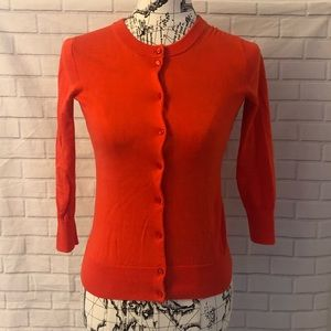J. Crew the Clare cardigan red button down sweater